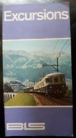 BERNESE OBERLAND Switzerland 1966 Excursions Timetable Railwayana Buses Ephemera