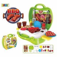 Dream The Suitcase Barbeque BBQ Play Set for KIDS Boy & Girls Toy Set