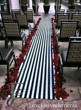 Wedding Aisle Runner Black and White Stripe Isle Ceremony Decor Fabric Runner