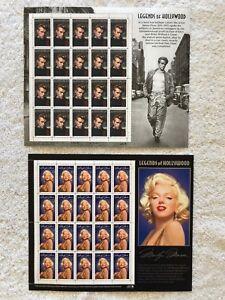MARILYN MONROE & JAMES DEAN 40 - 32¢ Stamps Scott #2967 & #3082 USPS MNH
