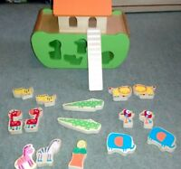 Early Learning Centre Wooden Noahs Ark Shape Sorter Toy Animals