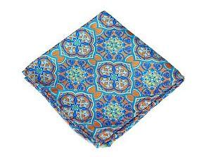Lord R Colton Masterworks Pocket Square - Trujillo Orange Silk - $75 Retail New