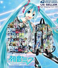 Hatsune Miku Vocaloid Backpack . Anime bag mochila kawaii !