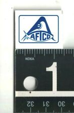 AMERICAN FISHING TACKLE TINY STICKER 1.25 in x 1 in Blue/White Fishing Decal