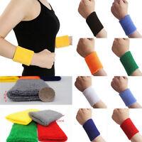 2 pcs Sweatband Wristbands Yoga Sports Fancy Dress Neon Unisex Exercise
