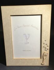 Fiftieth 50th Birthday photograph frame enamelled champagne glass diamanté Russ