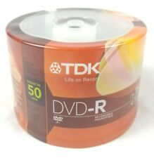 TDK DVD-R 50 Pack 4.7GB 1-16X NEW Free Priority Shipping