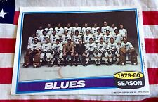 1979 1980 Topps Hockey Team Photo mini poster # 15 ST LOUIS BLUES