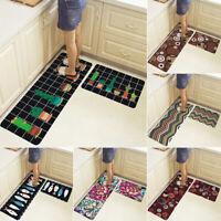 2PCS/Set Kitchen Floor Mat Non Slip Runner Rug Set Soft Door Home Decor Washable