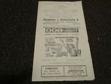 More details for wellingborough town   v  derby county 'a'  1959/60 ~ november 7th   **rare**