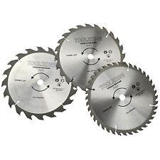 3 X 190mm TCT 30mm Bore Circular Saw Blades 20, 24 & 40 Teeth Hardwood, Softwood