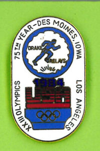 USA Track and Field Federation pin - LA 84 Summer Olympic Team - trials badge