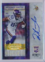 RODNEY SMITH -  2013 Contenders CRACKED ICE Rookie Ticket /21 - Vikings RC
