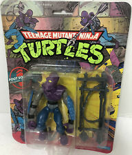 1988 Teenage Mutant Ninja Turtles 10 Back FOOT SOLDIER MOC TMNT VINTAGE