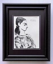 Pablo Picasso Original 1955 Firmado Magnífico Estampado en Mate 11 X 14