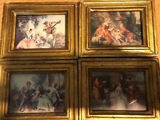 Lot Of 4 Vintage Exclusively Ours Made In Italy. Florentine Small Plaques .