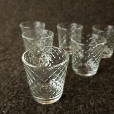 6 x Diamond Style New Shot Glasses Shooter Glass Slammer Short Stumpy Geometric