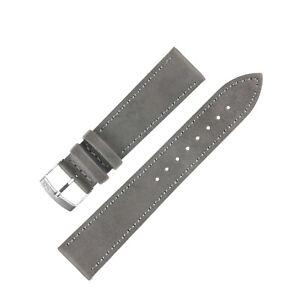 Morellato ABETE Buffalo-Embossed Vegan Leather Watch Strap in GREY