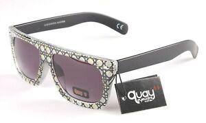 Australian Quay 1505 Floral Frame Matte Black Arms Sunglasses NEW