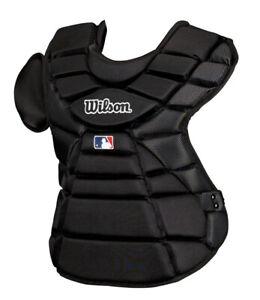"Wilson Hinge FX Intermediate Baseball Catchers Chest Protector Black 16"""