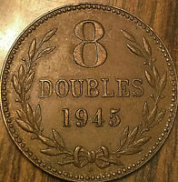 1945 GUERNESEY 8 DOUBLES COIN