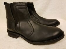 NEW CLARKS Mens Boots Black Oily Leather 12 M 34119