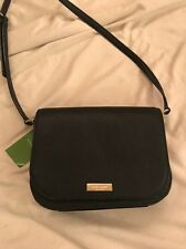 NWT Kate Spade Laurel Way Large Carsen Crossbody Black Leather Handbag