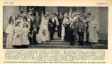 Gräfin v.Rechberg & Frhr.v.Fürstenberg Hochzeit auf Schloß Donzdorf  c.1905