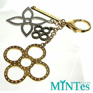 Auth Louis Vuitton Bijoux Sack Tabage Keychain M65090 Gold Silver [Used]