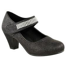 Zapatos Con Alto Tacón Para Niñas Con Estrás Para Fiesta Dama De Honor Tallas