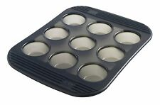 Mastrad 9 Cup Silicone Mini Muffin / Cupcake Baking Pan / Mold