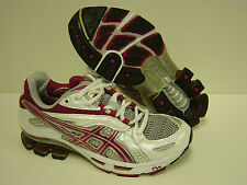 NEW Womens Sz 6 ASICS Gel Kinetic TN881 0136 White Cranberry Sneakers Shoes