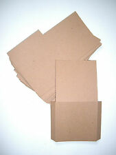50 Brown recycled card CD DVD sleeve/wallet/cover Unbranded/Blank (Flat)
