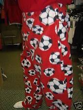 Soccer Ball Fleece Lounge Pant Sz Axl Red