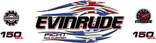 Evinrude V6 Direct Indection Ficht Australian and american Flag Tribal Decal Kit