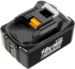 Batteria sostitutiva di ricambio per Makita BL1850B BL1860 18 V 5.5 Ah con LED