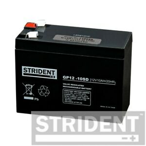 Strident 10ah 12v Battery, Mobility Scooter Battery, For Rascal, Pride, and More