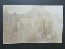 WWI era Minnesota National Guard RPPC Photo w/Duty Schedule Board