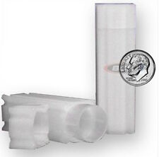 5 Square Coin Tubes Dime Lock Cap Tube CoinSafe Stackable Silver Mercury