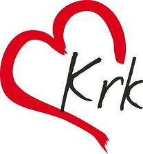 """AUTO Adesivo """"KRK"""" Sticker isola Croazia circa 9x8cm contorno tagliati"""