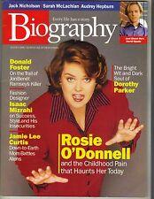 ROSIE O'DONNELL Biography Magazine 8/98 ISAAC MIZRAHI JAMIE LEE CURTIS PC