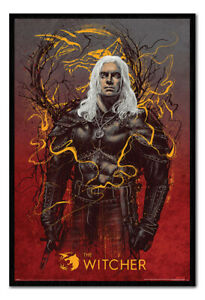 The Witcher Geralt the Wolf Poster MAGNETIC NOTICE BOARD Inc Magnets | UK Seller