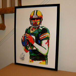 Aaron Rodgers Green Bay Packers NFL Football Sports Poster Print Wall Art 18x24