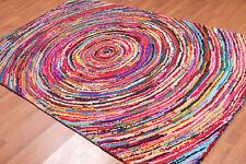 5' x 8' Handmade Circle Medley 100% Cotton Chindi Area Rug AOR9821 5x8 Multi