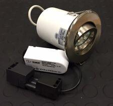 Robus 12v Fire Rated MR16 Directional Brushed Chrome Downlight Kit RF108KT (B28)