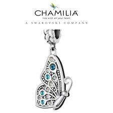 Genuine chamilia 925 de Plata y Azul Swarovski Best Friend Butterfly encanto R