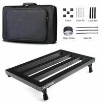 "Portable14/"" Guitar Pedalboard Pedal Board Aluminum Alloy Soft Waterproof Gig Bag"