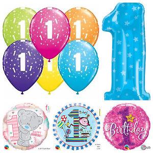 Age 1 - Happy 1st Birthday Qualatex Balloons {Helium Party Balloons Boy/Girl}
