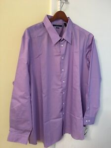 Perry Ellis Men's Big and Tall Travel Luxe Solid Non-Iron Twill Shirt 4X ~NWT~
