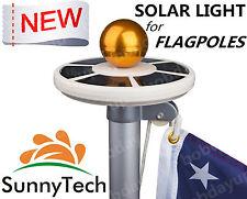 Sunnytech 2018 New 2ND Generation-Solar Flag Pole Flagpole 20LEDs White Light B